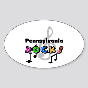 Pennsylvania Rocks Oval Sticker